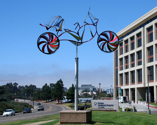 WEEEEE Kinetic Bicycle Sculpture by Amos Robinson contemporary art stainless steel