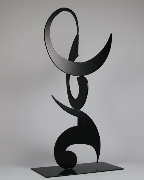 "Kinetic sculpture by Amos Robinson ""Lullaby"" contemporary art stainless steel San Diego"