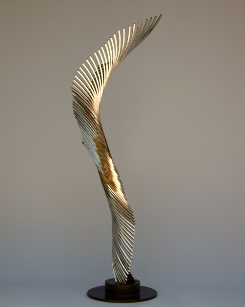 Sculpture by Amos Robinson Smoke II contemporary art stainless steel