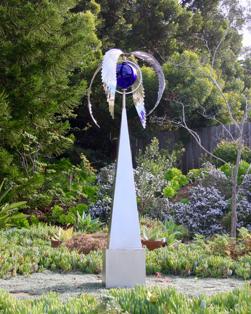 Kinetic art by Amos Robinson Forever stainless steel contemporary art
