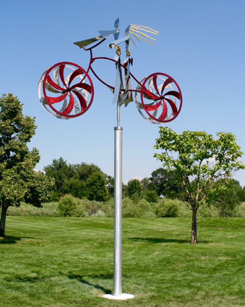 Kinetic art by Amos Robinson Greeley Sweethearts stainless steel contemporary art