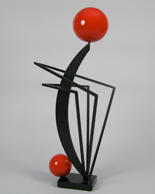Sculpture by Amos Robinson Finesse black and red series contemporary art