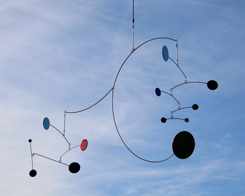 Kinetic art by Amos Robinson Bounce mobile stainless steel contemporary art