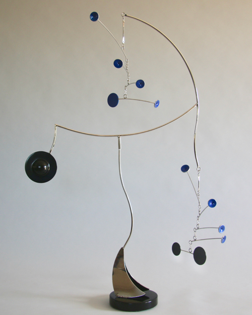 Kinetic art by Amos Robinson Celestial Sailor contemporary stainless steel art