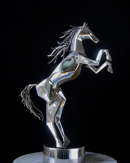 Sculpture by Amos Robinson Spirit Horse stainless steel contemporary art
