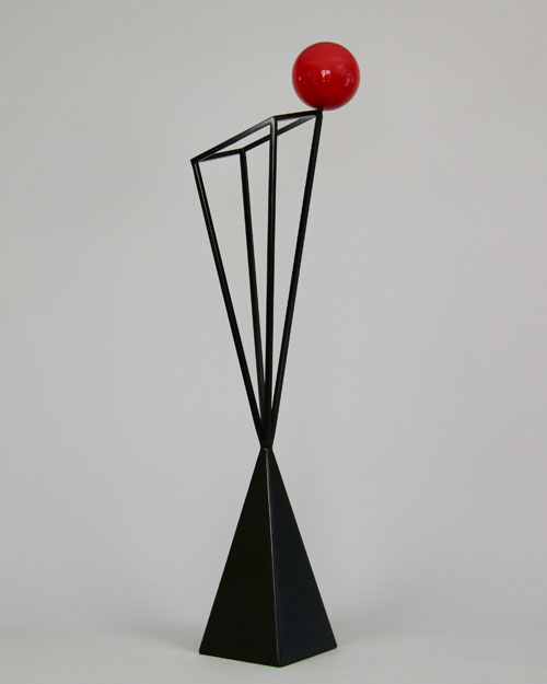 Sculpture by Amos Robinson One Off contemporary art stainless steel black and red