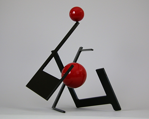 "Sculpture by Amos Robinson ""Stabile of Two"" contemporary art stainless steel"