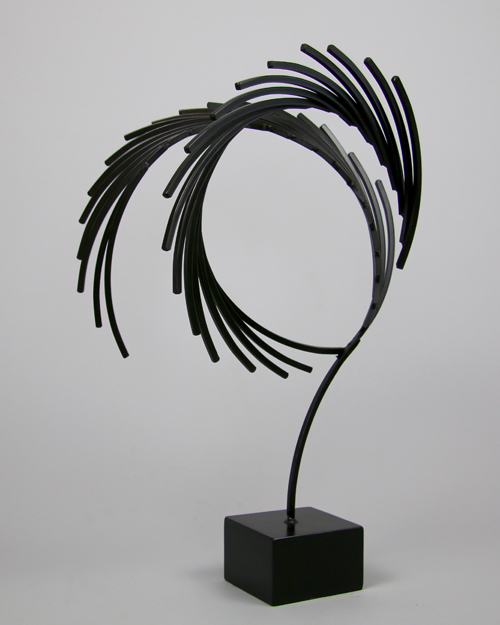 "Sculpture by Amos Robinson ""Shadow"" contemporary art steel"