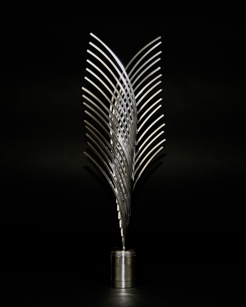 Sculpture by Amos Robinson Wheat Stainless Steel Contemporary Art
