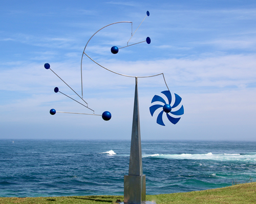 Kinetic art by Amos Robinson Celestial Reverie stainless steel contemporary art