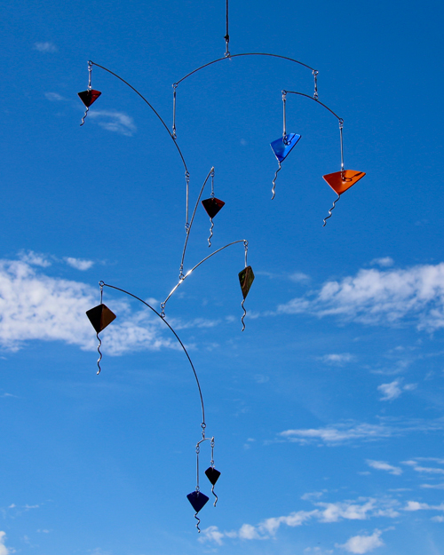 Kinetic art by Amos Robinson Kites mobile stainless steel contemporary art