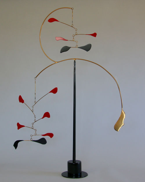 Kinetic art by Amos Robinson Goldie contemporary stainless steel art