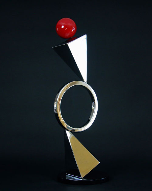 Sculpture by Amos Robinson Diamonds and Pearl stainless steel contemporary art