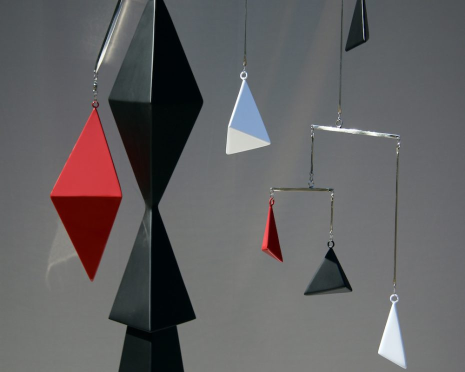 Kinetic art by Amos Robinson Crane sculpture stainless steel contemporary art