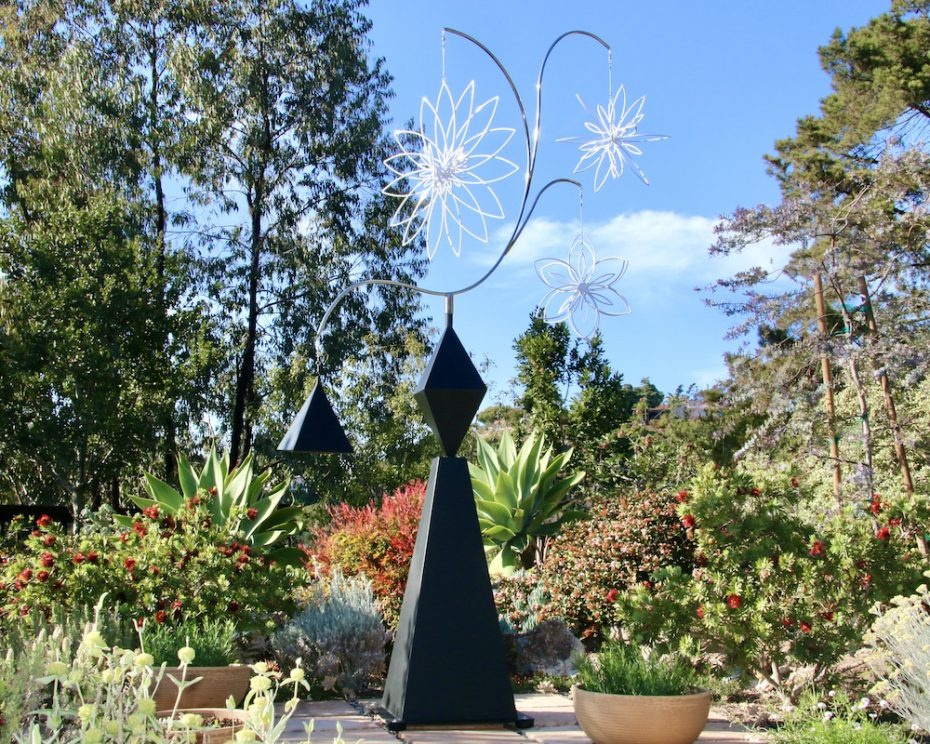 Kinetic art by Amos Robinson Walk in the Park sculpture stainless steel contemporary art